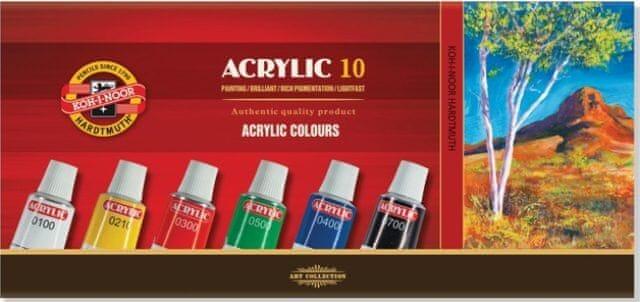 Barva akrylová 16ml/10 odstínů v tubě