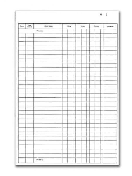 Pokladní kniha A4, číslovaná, 2 x 50 L, samopropisovací