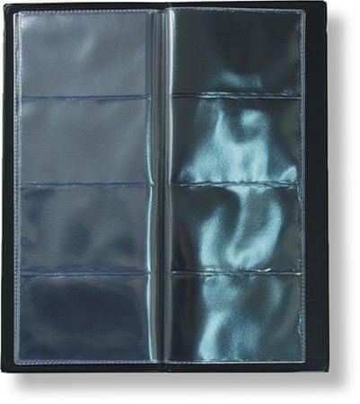 Vizitkář čtyřřadý na 80 vizitek, černý