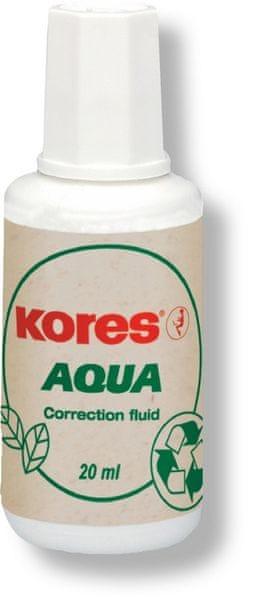 Opravný lak KORES Aqua 20 ml se štětečkem