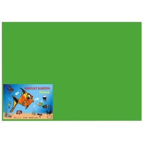 Karton kreslicí barevný A4 180g / 50l zelený