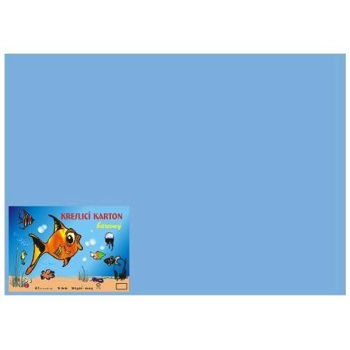 Karton kreslicí barevný A3 180g / 50l modrý