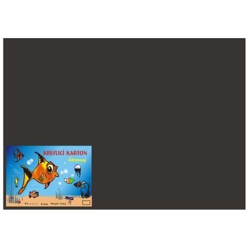 Karton kreslicí barevný A4 180g / 50l černý