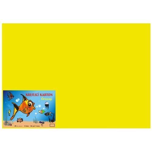 Karton kreslicí barevný A4 180g / 50l žlutý