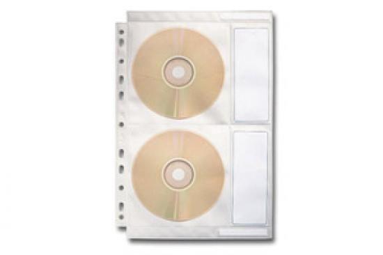 Obal závěsný na CD A4 čirý na 4 CD / 1 kus