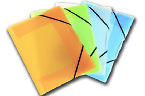 Desky s gumičkou PP ICE A4 modré
