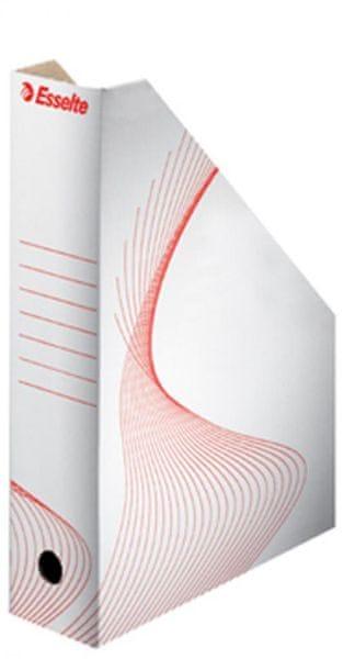 Stojan na časopisy kartonový bílý