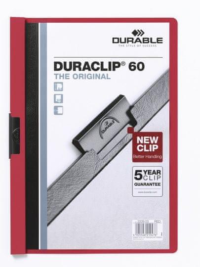 Desky DURACLIP A4/60 červené