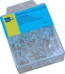 Věžičky - špendlíky do korkové nástěnky 435 / 30ks čiré