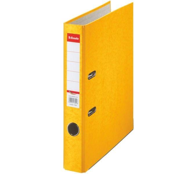 Pořadač pákový papírový Rainbow A4 5 cm žlutý