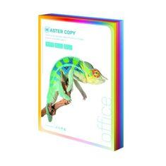 Papír kopírovací colour Master A4, 80g sytá duha mix 5 barev - 500 listů