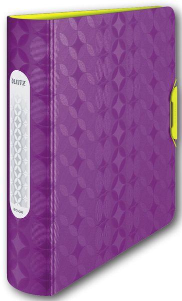 Mobilní kroužkový pořadač Leitz ACTIVE Retro Chic 5,2 cm fialový