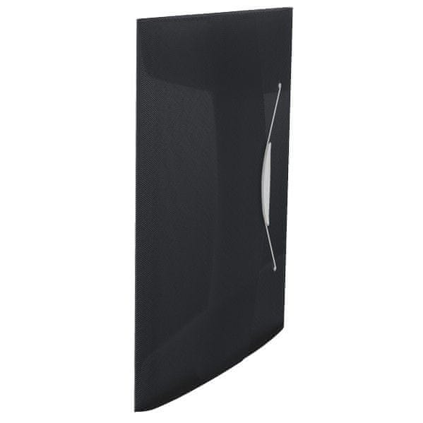 Desky na spisy s gumičkou Esselte VIVIDA 3 klopy černé