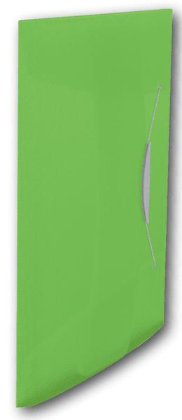 Desky na spisy s gumičkou Esselte VIVIDA 3 klopy zelené