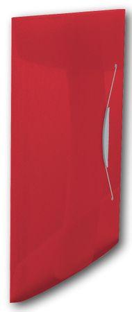Desky na spisy s gumičkou Esselte VIVIDA 3 klopy červené