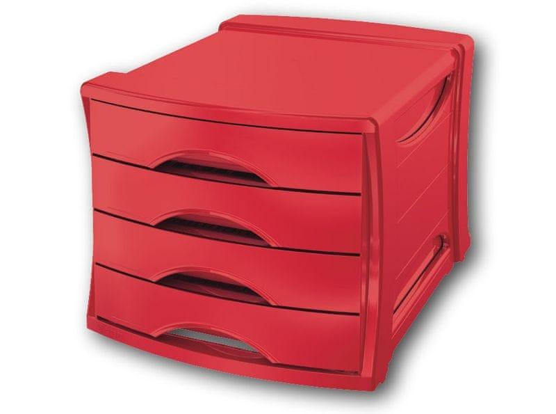 Box zásuvkový Esselte Europost VIVIDA červený