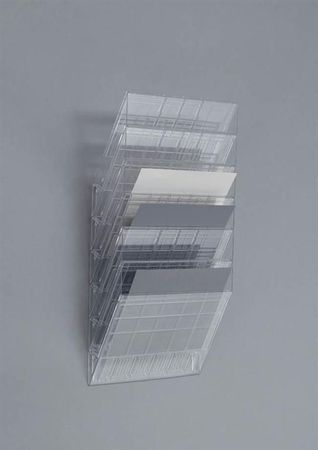 Durable Stensko stojalo za prospekte Flexiboxx A4, 6 predalov, vzdolžno, prozorno
