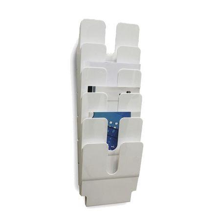 Durable Stensko stojalo za prospekte Flexiplus A4, 6 predalov, pokončno, belo