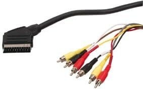 Kabel Scart - 6x RCA (činč) 1,5m