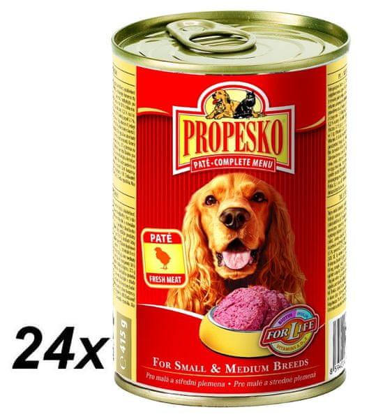 Propesko pate pes kuře complete 24 x 415 g
