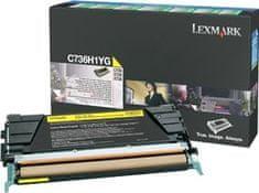 Lexmark toner C736H1YG Yellow, 10000 stranica