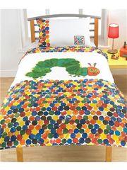 Otroška posteljnina Zelo lačna gosenica, Spots Single