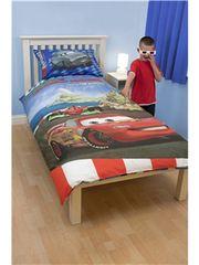 Otroška posteljnina in 3D očala Disney Cars2 Espionage