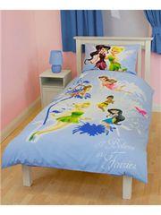 Otroška posteljnina Disney Fairies Tinkerbell Friends, enojna