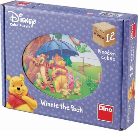 Dino Toys Sestavljanka iz kock Medvedek Pu s prijatelji, 12-delna
