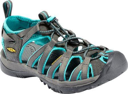 KEEN sandali Whisper W, ženski, sivi - 37,5
