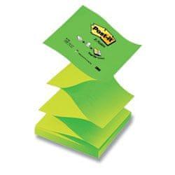 """Blok samolepicí Post-it 76 x 76 typ """"Z"""" pastelová zelená/neonově zelená"""