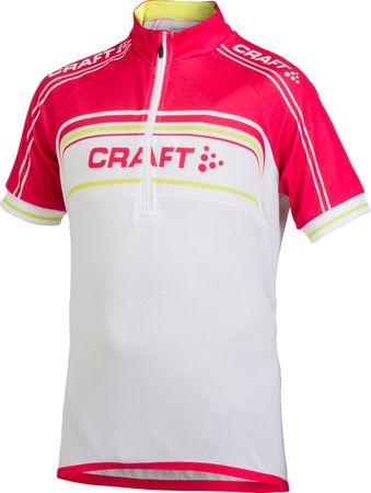 Craft Cyklodres Logo Gyerek kerékpáros mez, Rózsaszín, 158/164