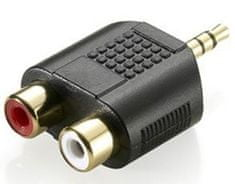 Sinnect Adapter audio 3,5 mm Stereo Jack na 2x RCA M/F/F (14.101)