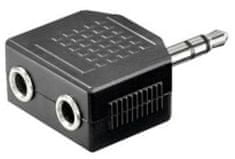 Sinnect Adapter audio 3,5 mm Stereo Jack na 2x Jack M/F/F (14.102)