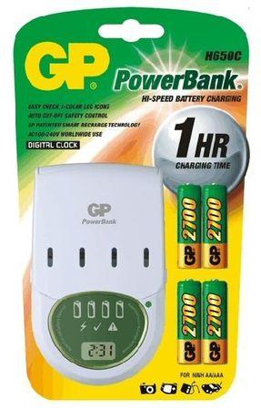 GP Polnilec baterij PowerBank H650C (4 x 2700 mAh)
