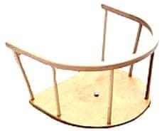 Zaščitna ograjica za sani, lesena