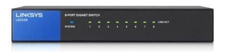 Linksys Gigabitni switch LGS108-EU 8-por