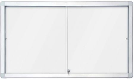 Piši-Briši oglasna notranja vitrina z belo tablo 2 x 3 GS112A4PD, 12 x A4, 70 x 141 cm