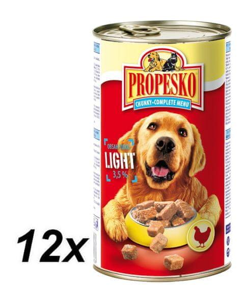 Propesko kousky pes light 12 x 1240g