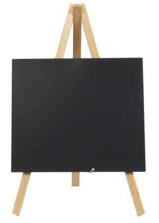 Securit Tripod namizna črna kredna tabla Elegant, 24 x 12 cm