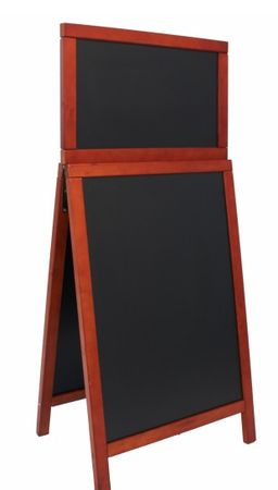 Securit Ulična črna kredna tabla Duplo Top, mahogany, 55 x 120 cm