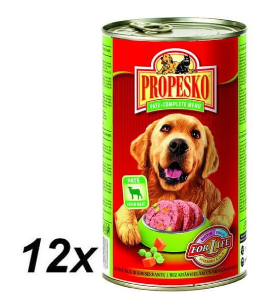 Propesko pate pes jehněčí se zeleninou 12 x 1240g
