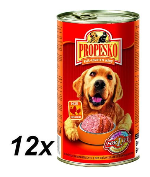 Propesko pate pes kuře+krůta 12 x 1240g