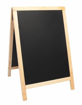 Securit ulična črna kredna tabla Duplo, plain, 55 x 85 cm