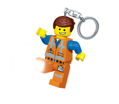 LEGO® The Movie Emmet obesek za ključe z led lučjo