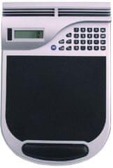 Podloga za miško s kalkulatorjem, srebrno/črna