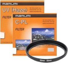 Marumi Komplet UV in cirkularnega polarizacijskega filtra + step up obroč 55-52