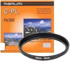 Marumi Filter cirkularni polarizacijski + step up obroč 55-52