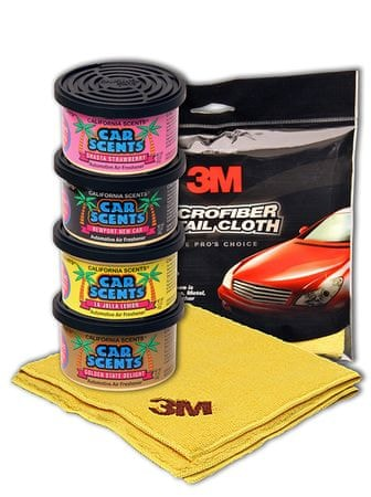 California Scents Dišava za avto Naj paket poletja 4A, dišave + krpa