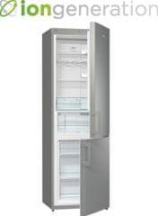 Gorenje Prostostoječi kombinirani hladilnik Essential Line NRK6192GX